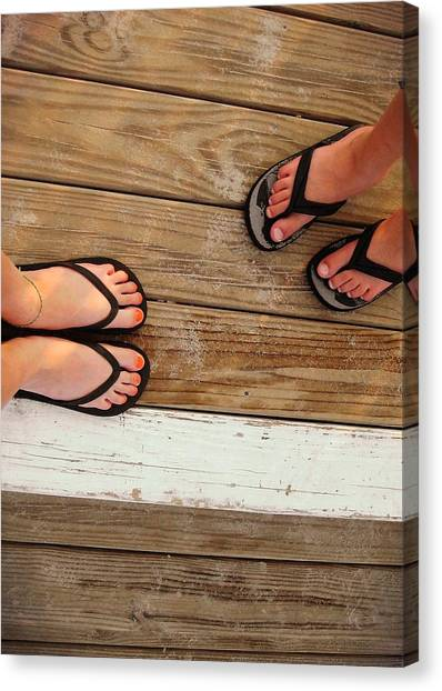 Flip Flops  Canvas Print by JAMART Photography