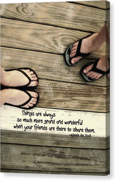 Flip Flops Quote Canvas Print by JAMART Photography