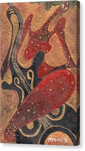 Flirting With Cello Canvas Print