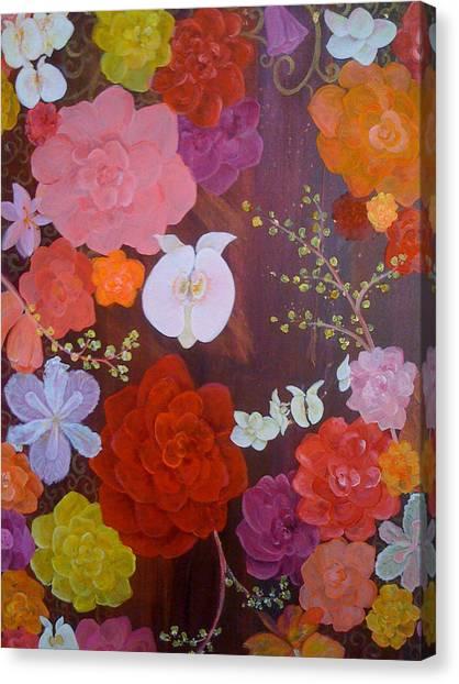 Flirty Blossoms Canvas Print by Sabra Chili