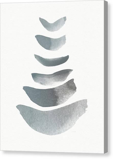 Brush Stroke Canvas Print - Floating 1- Zen Art By Linda Woods by Linda Woods