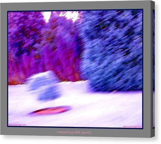 Floating Bush With Shadow  Canvas Print by Jane Tripp