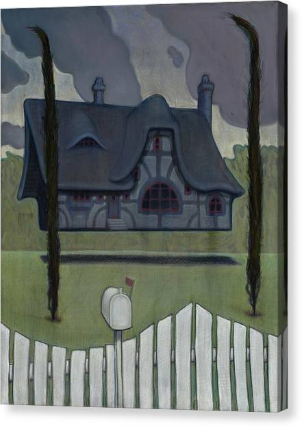 Floating House Canvas Print