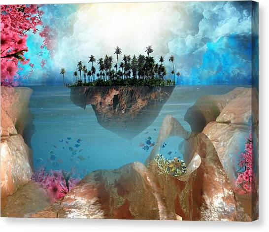 Floating Island Canvas Print by Adrienne McMahon
