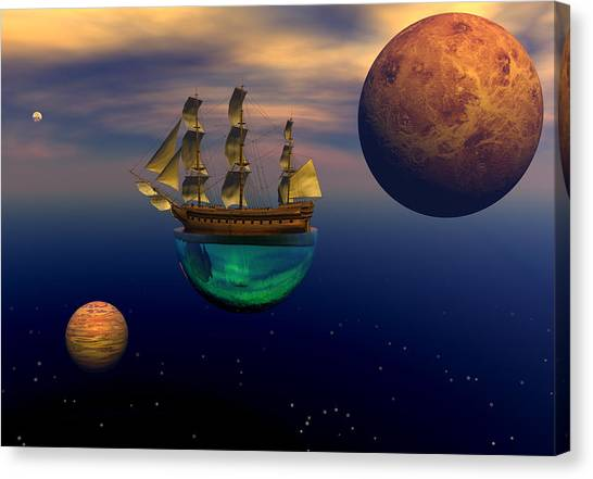 Floating On A Dream Canvas Print by Claude McCoy