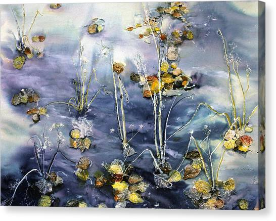 Floating Pond Leaves Canvas Print