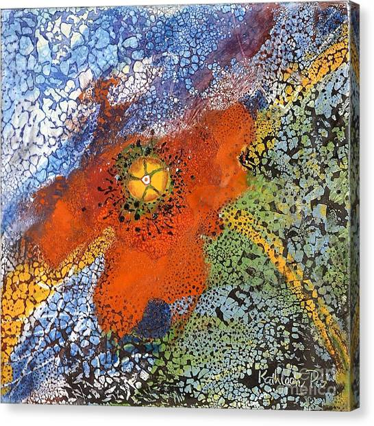 Ceramics Canvas Print - Floating Poppy by Kathleen Pio