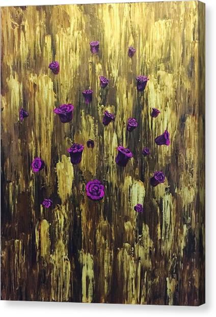 Floating Royal Roses 1 Canvas Print