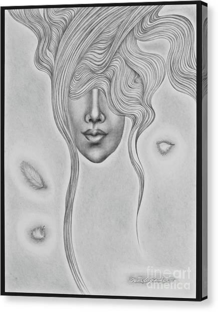 Floating Sorrow Canvas Print