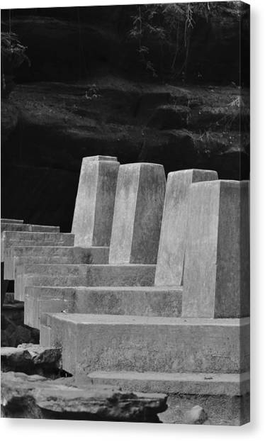 Floating Stone Staircase Canvas Print by Peter  McIntosh