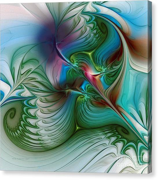 Lyrical Abstraction Canvas Print - Floating Through The Abyss by Karin Kuhlmann