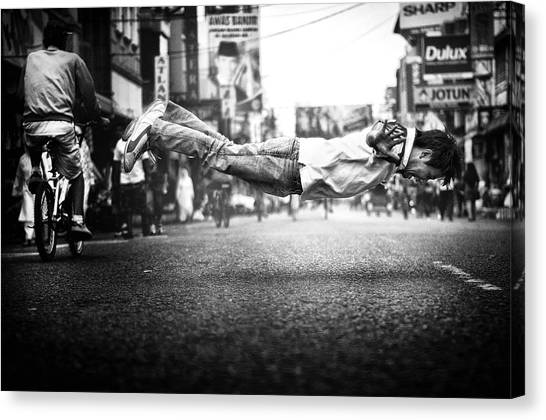 Street Canvas Print - Floats by Firman Maulana