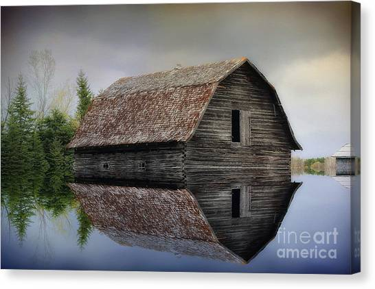 Flooded Barn Canvas Print