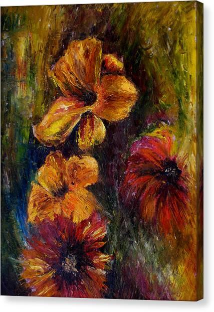 Flora Canvas Print by Lou Ewers