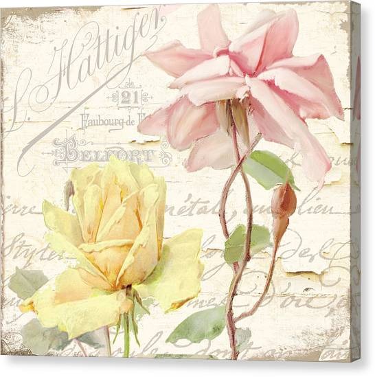 Cottage Style Canvas Print - Florabella Iv by Mindy Sommers