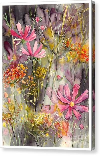Wyoming Canvas Print - Floral Cosmos by Suzann's Art