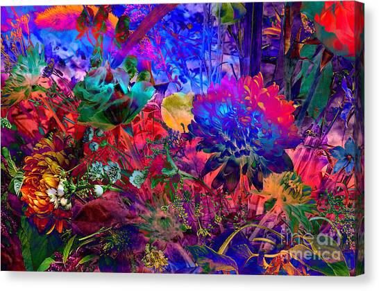 Floral Dream Of Summer Canvas Print
