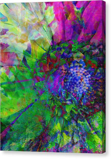 Floral Expressions I Canvas Print by Ricki Mountain