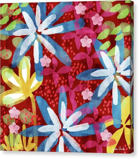Canvas Print - Floral Fantasy 2- Art By Linda Woods by Linda Woods