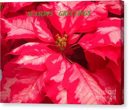 Floral Greetings Canvas Print