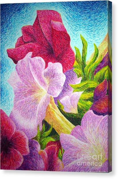 Floral In Pinks Canvas Print
