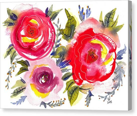 Floral Iv Canvas Print