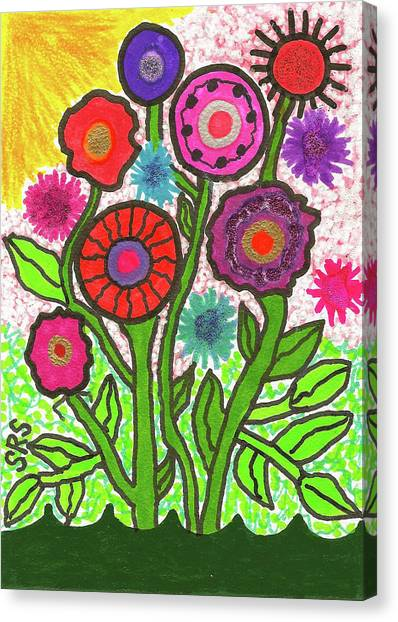 Floral Majesty Canvas Print