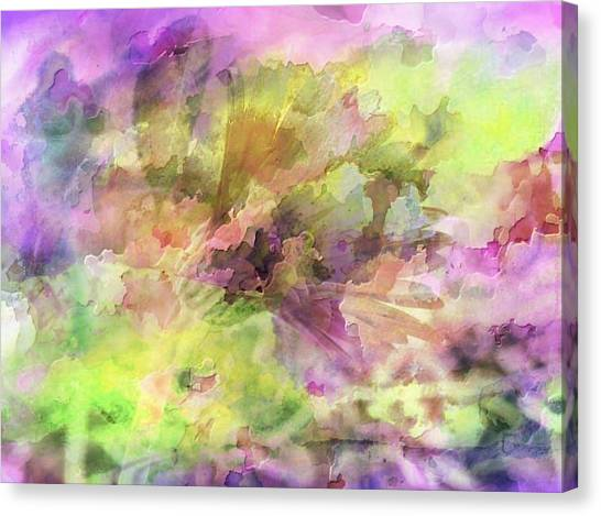 Floral Pastel Abstract Canvas Print