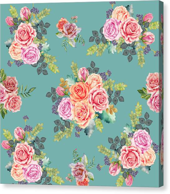 Summer Holiday Canvas Print - Floral Pattern 2 by Stanley Wong
