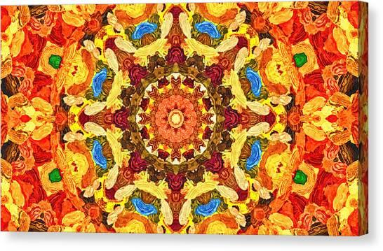 Mandala Of The Sun Canvas Print