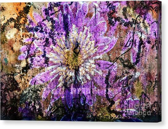 Floral Poetry Of Time Canvas Print