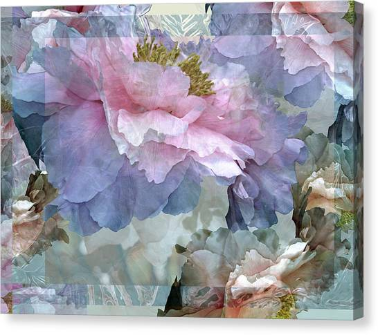 Floral Potpourri With Peonies 24 Canvas Print