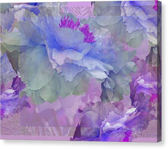 Floral Potpourri With Peonies 4 Canvas Print