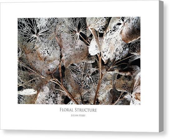 Floral Structure Canvas Print