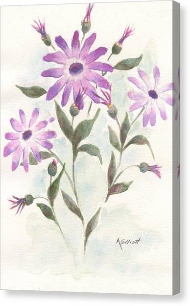 Lavendar Canvas Print - Floral Study by Marsha Elliott