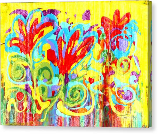 Floral Swirls Canvas Print by Pauline Ross