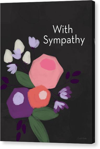 Flower Bouquet Canvas Print - Floral Sympathy Card- Art By Linda Woods by Linda Woods
