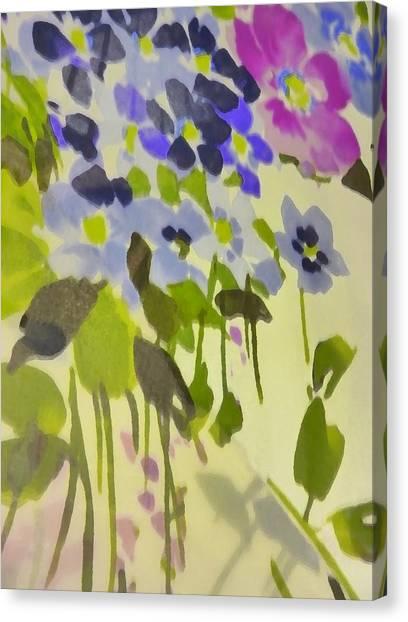Floral Vines Canvas Print by Florene Welebny