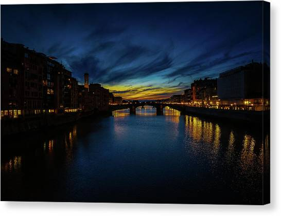 Florence At Sunset Canvas Print