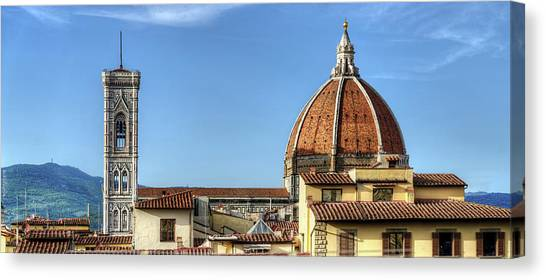 The Uffizi Gallery Canvas Print - Florence - Duomo And Rooftops by Weston Westmoreland