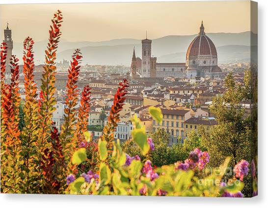Florence In Summer Canvas Print