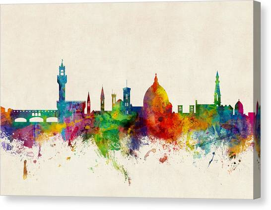 Italian Canvas Print - Florence Italy Skyline by Michael Tompsett