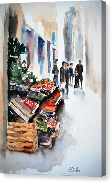 Florence Street Market Canvas Print by Neva Rossi