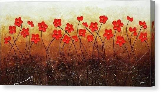 Flores De Mi Jardin Canvas Print