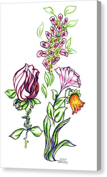 Florets Canvas Print by Judith Herbert