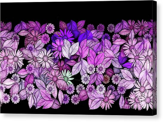 Fleur Canvas Print - Floria - V5c3 by Variance Collections