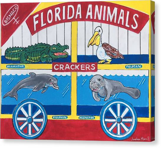 Florida Animal Crackers Canvas Print