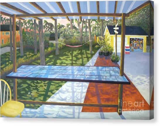 Florida Backyard Canvas Print by Blaine Filthaut