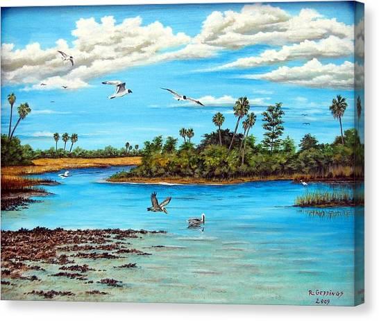 Florida Bayou Canvas Print by Riley Geddings