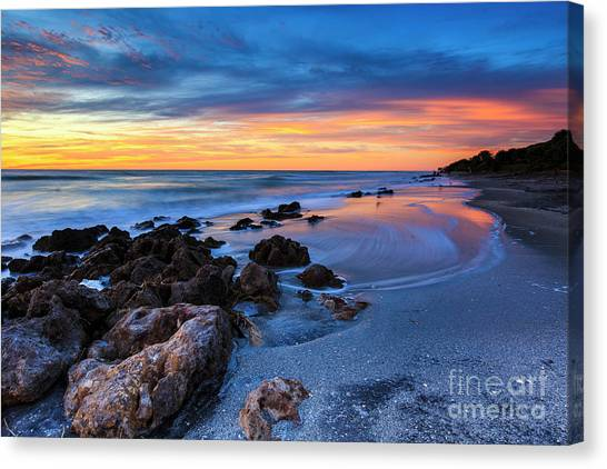 Florida Beach Sunset 3 Canvas Print